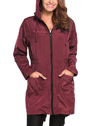 Libre con Aire HOTOUCH Asimetrica al Abrigos para Rot S Impermeables Ideal Mujer Chaqueta lila Typ1 Deportes Capucha XXL Chubasquero 7WqSqCOr