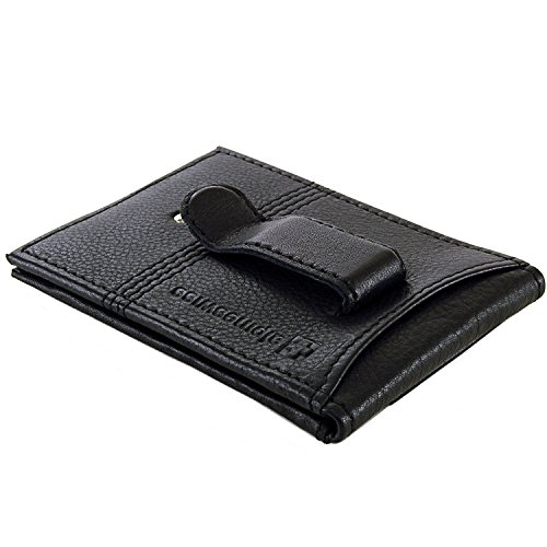 Alpine Swiss Men's Genuine Leather Flip-Fold Money Clip Front Pocket Wallet Black (Clip Flip Money)