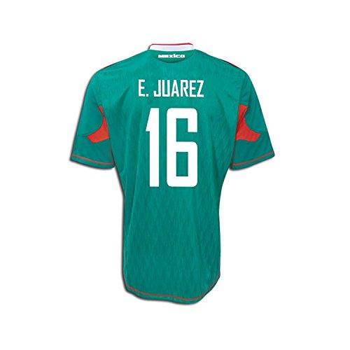 大混乱背骨不実Adidas E. Juarez #16 Mexico Home Soccer Jersey 2010/サッカーユニフォーム メキシコ ホーム用 背番号16 E.フアレス
