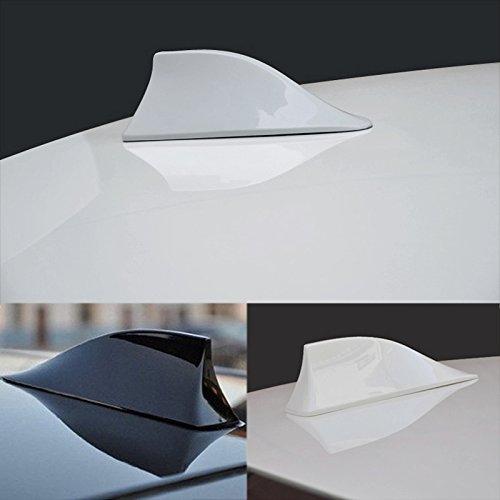 style aileron de requin d/écoratif avec fonction radio AM//FM rouge FEELDO Antenne radio de toit /étanche unversel pour voiture