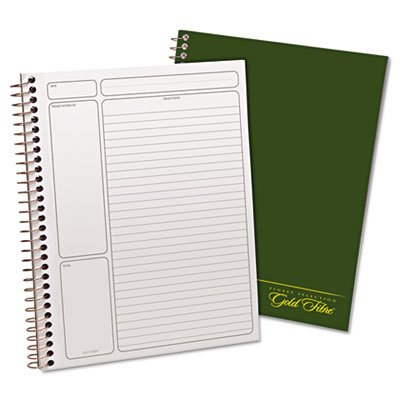 Gold Fibre Wirebound Legal Pad, 9-1/2 x 7-1/4, White, Green Cover, 84-Sheets, Sold as 1 Each, 12PACK , Total 12 Each by Ampad