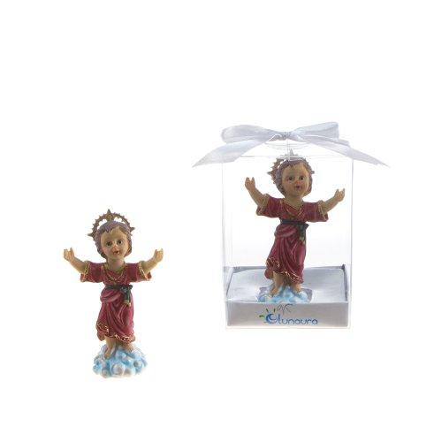 Communion Memory Box - Lunaura Religious Keepsake - Set of 12 El Divino Nino Statue Favors