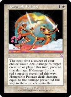 Honorable Passage (Magic the Gathering : Time Spiral Timeshifted #9 Rare) (Time Spiral Timeshifted Magic)