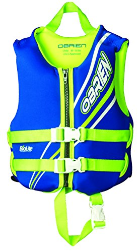 - O'Brien Child Neoprene Life Vest, Blue/Green, 30-50-Pound