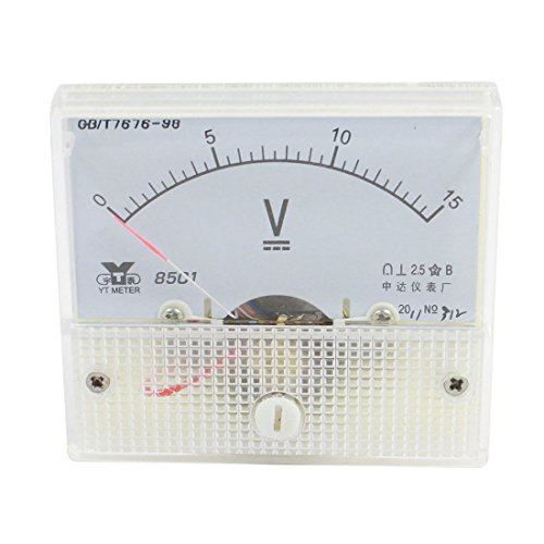 UXcell Class 2.5 DC 0-15V Voltage Panel Gauge Meter Voltm...