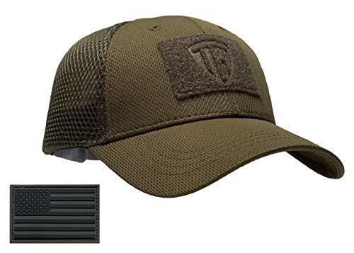 Terra Kuda Tactical Operator Cap -Flex Mesh Snapback Hat- Low Profile (OD Green)