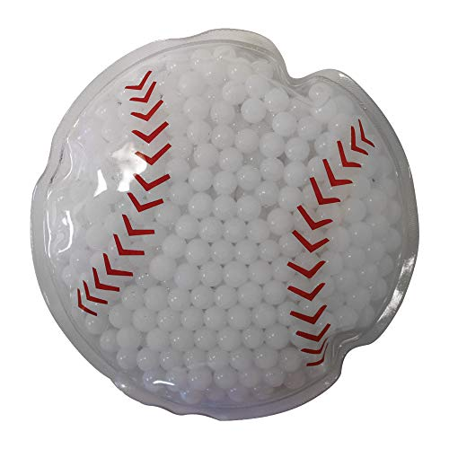 (Sport Gel Bead Hot/Cold Pack - Reusable - Non-Toxic, Baseball, Set of 6)