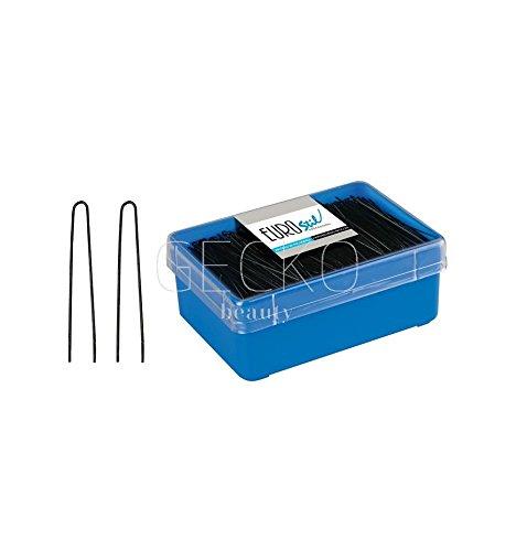 Eurostil Horquillas de Color Negro para Moño de 65 mm - 124 gr 8423029004262