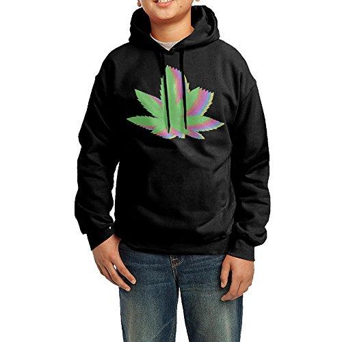 Unisex-Youth-Weed-Leaf-Space-Galaxy-Pattern-Vintage-Hoodies