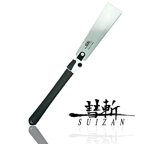 SUIZAN japanese Double Edge Ryoba Folding Saw Pull Saw for Woodworking - Edge Pull Saw