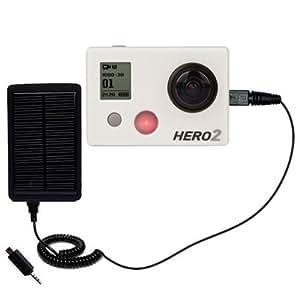 Cargador de bolsillo con batería externa recargable con energía solar para Hero 2 de GoPro que utiliza la tecnología TipExchange de Gomadic