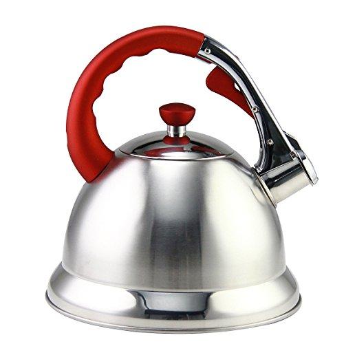 Riwendell 3.2 Quart Whistling Tea Kettle Stainless Steel Bell Shape StoveTop Teapot (GS-04555HY-3L)