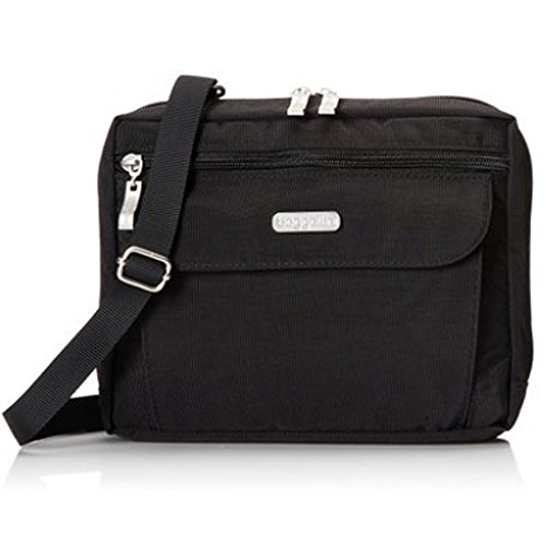 Baggallini Wander Crossbody Travel Tote & Key Chain (Black/Sand)