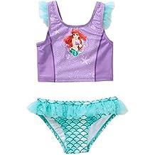 Disney Little Mermaid Ariel Toddler Girl Tankini Ruffled Swimsuit 2t-5t