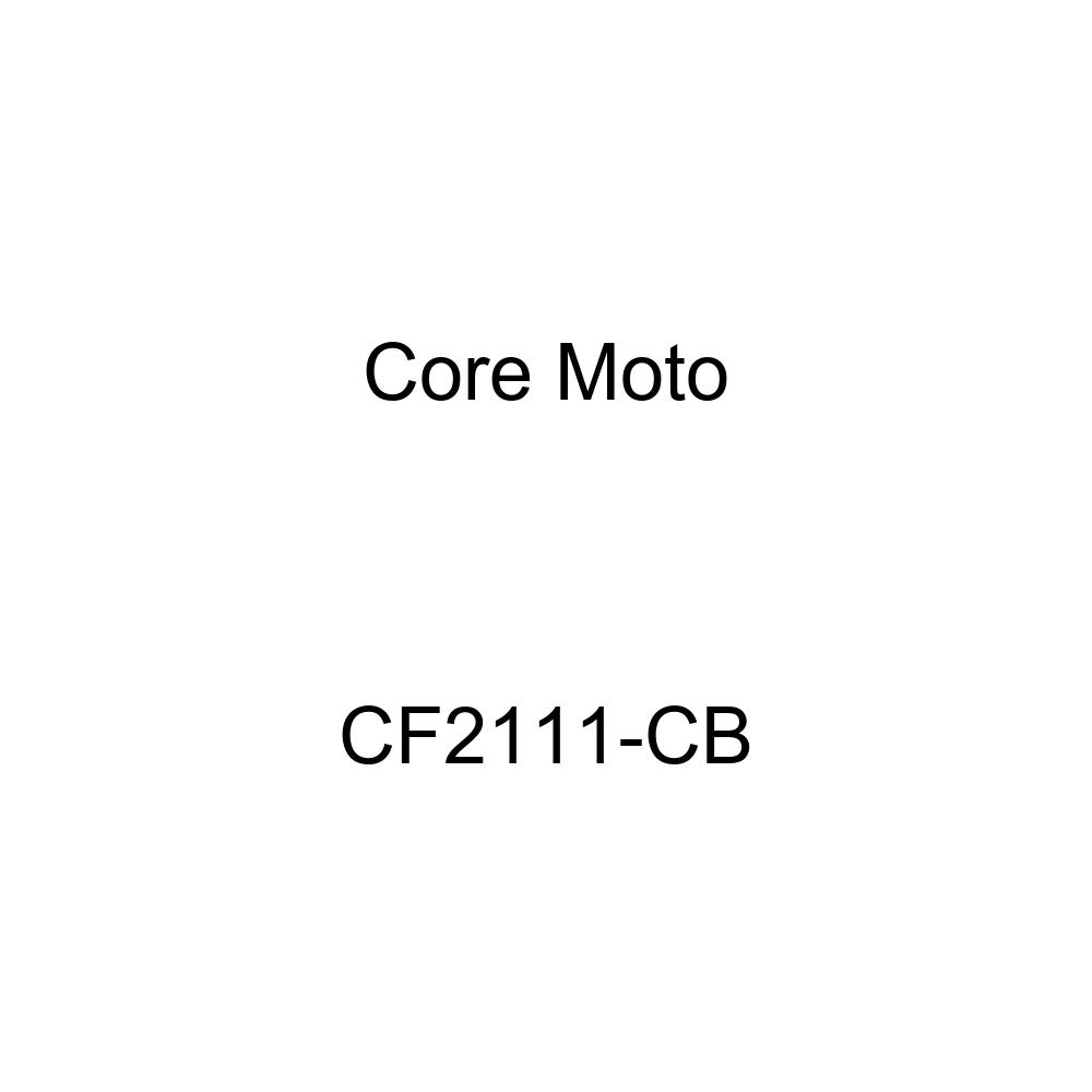 Core Moto CF2111-CB Road Carbon Black Fittings Front Brake LINE KIT for Kawasaki ZX-6R/ 636 (2013-2015) -Non ABS