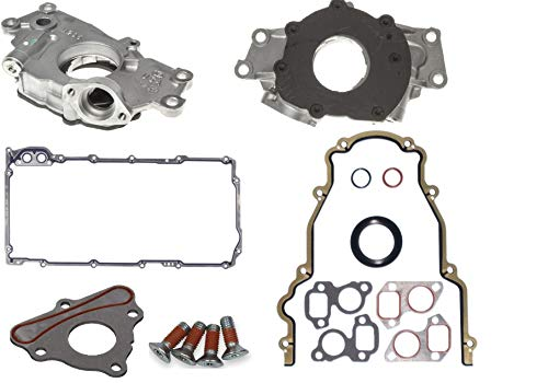 Oil Pump & Timing Cover & Camshaft Locking Plate with Recessed Bolts compatible with 1999-2009 Chevrolet GMC 4.8L 5.3L 6.0L 325 (Plate Camshaft Locking)