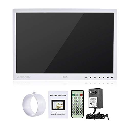 Digital Photo Picture Frame, Andoer 15 inch Digital Picture Frame 1280x800 HD Resolution 16:9 Wide Picture Screen Offers a Clear and Distinct Display (White) by Andoer (Image #6)