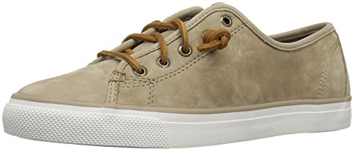Sperry Top-sider Womens Seacoast Wash Pelle Moda Sneaker Sabbia