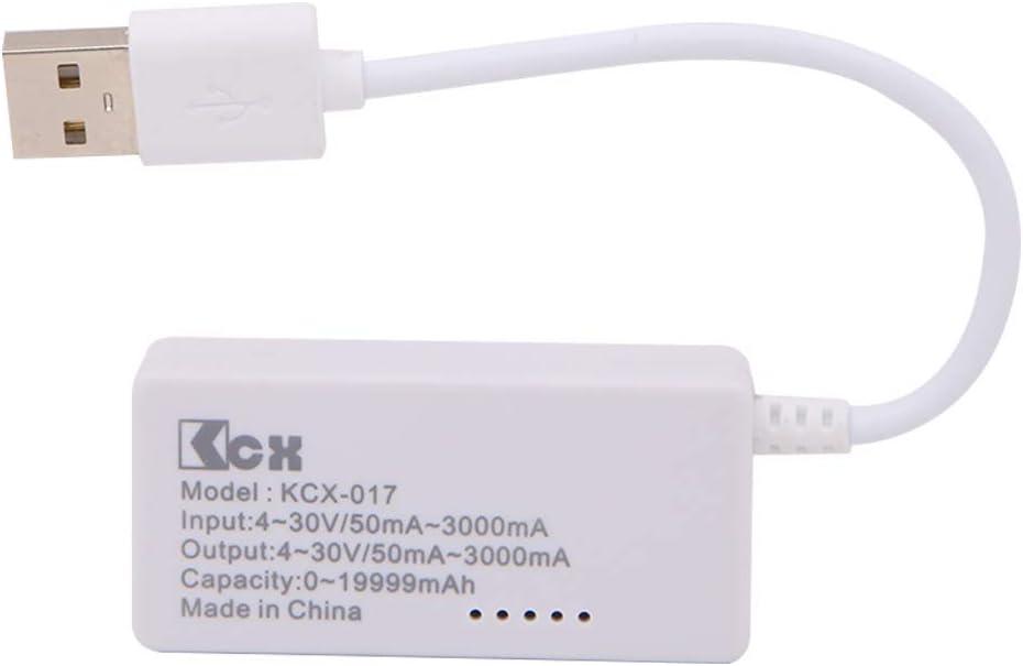 Testeur de capacit/é capacit/é de batteries vitesse de test des chargeurs D/étecteur de tension USB LCD Lecteur de courant amp/èrem/ètre c/âbles