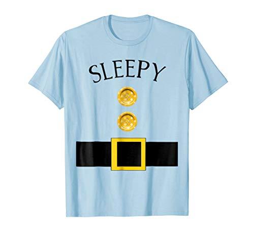 Mens Cute Sleepy Halloween Group Costume T Shirt