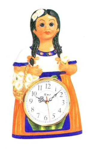 amazon com mexican indian lady wall clock new home kitchen