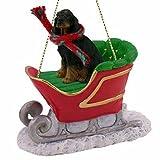 Gordon Setter Sleigh Ride Christmas Ornament - DELIGHTFUL!