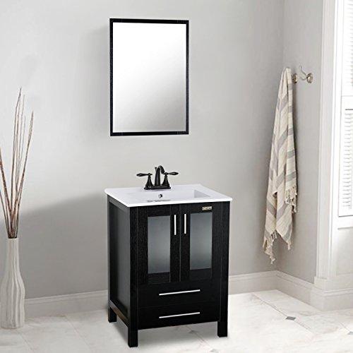 Modern Bathroom Vanity Espresso (Eclife 24