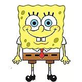 "8"" SpongeBob Squarepants Sponge Bob Removable Peel Self Stick Adhesive Vinyl Decorative Wall Decal Sticker Art Kids Room Home Decor Girl Boy Children Bedroom Nursery Baby 6 x 8 Inch"