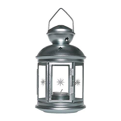 Ikea - Rotera Lantern for Tealight, Galvanized -
