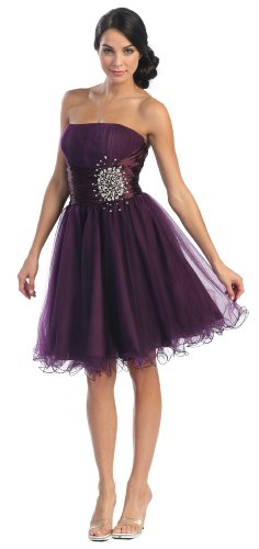 US Fairytailes Strapless Cocktail Party Junior Prom Dress #2648