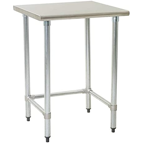 Eagle T2436GTEB Stainless Steel Work Table With Galvanized Tube Base 24 X 36 X 30