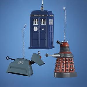 Amazon.com: Kurt Adler Doctor Who Christmas Ornament Set of 3 ...