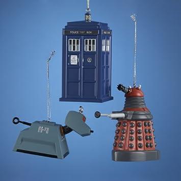 Amazoncom Kurt Adler Doctor Who Christmas Ornament Set of 3