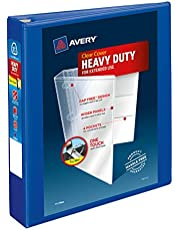 Avery Heavy Duty View 3 Ring Binder, 1.5 Inch, One Touch, Pacific Blue, 4 Pockets, 400 Sheet Capacity, PVC Free (79775)