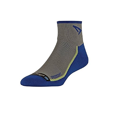 1/4 Cycling Sock - Drymax SPEEDGOAT - Lite Trail Running 1/4 Crew, Anthracite/Royale, W7.5-9.5, M6-8