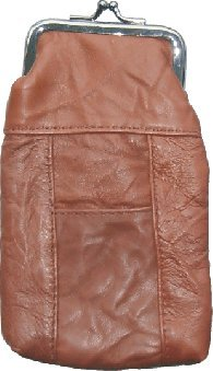 Lamb Skin Leather Cigarette Case Hold 120 (Brown)