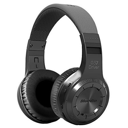 Price comparison product image Bluedio H-Turbine Wireless 4.1 Headphones Powerful Bass Over-ear Headset Bulit-in Microphone-Retail package Global release (Black)