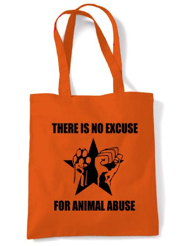 Bag Orange There Is Animal For Abuse No Excuse Tote Shoulder w8wqPTAzg
