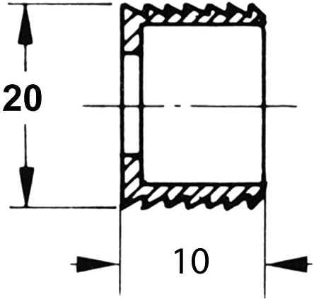 D/écor : Blanc Diam/ètre : 20 mm ITAR Douille daccrochage