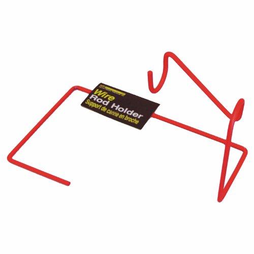 HT Enterprise Wire Rod Holder, Red, Outdoor Stuffs