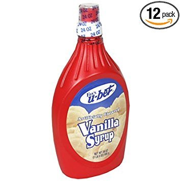 Foxs U Bet Vanilla Syrup, 20 Ounce - 12 per case. by Foxs U-Bet