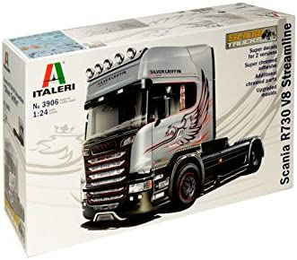 Italieri Modelo Camión Scania R730 V8 Plata Griffin Streamline
