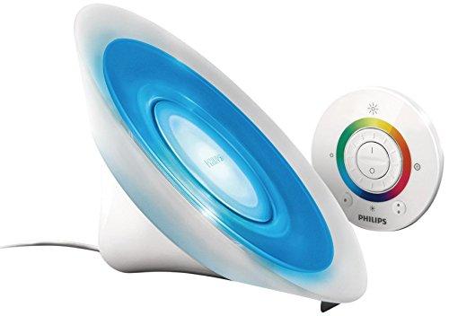 Philips Living Colors Aura, Energiesparende LED-Technologie mit 8 Watt, 16 Millionen Farben, mit Fernbedienung, Weiß 7099860PH