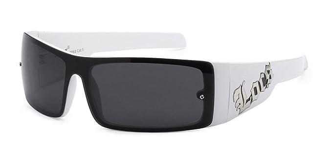 ca131c5ed616 Amazon.com  Locs Original Gangsta Shades Men s Hardcore Shield Lens  Sunglasses  Clothing