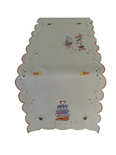 K&K Tabletops Happy Birthday Decorative Table Runner - 16