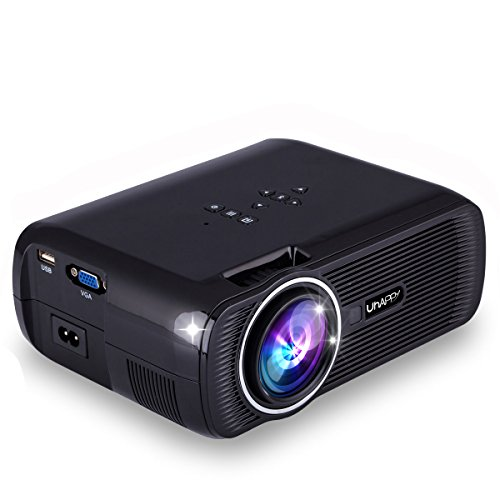 ESoku HD Projector 1080P LED Mini Projector 3000 Lumens Portable Home Theater Video Projector (Black) by ESoku