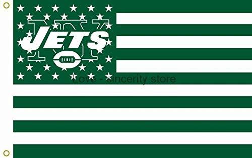 BeesClover New York Jets with New York City Skyline Flag 3ft x 5ft NFL Flag Show