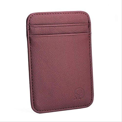 Qiab Billetera Cuero Handy ID Pocket Bank Tarjeta De Crédito Caja Tarjeta Delgada Cartera Hombres Tarjeta De Efectivo Paquete De Tarjeta De Autobús Titular De La Tarjeta Nuevo Púrpura: Amazon.es: Equipaje