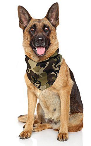 (Costume Adventure Camo Dog Bandana Camo Bandana for Dogs Camo Camouflage Bandana Dog Large Camo Dog Bandana Dog Bandanas Camo Green Army Dog)