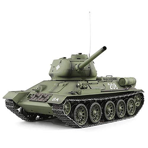 (Tletiy Soviet T34 Mini RC Tank 2.4Ghz Battle Remote Control Panzer Tank 1:16 Scale Stunt Racing Tank with Sound, Kids Toy Model Car Rotating Turret Recoil Action When Cannon Artillery Shoots)